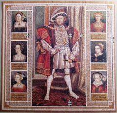 Henry VIII and His Six Wives (pefkosmad) Tags: jigsaw puzzle 1000pieces incomplete missingpieces hobby leisure pastime painting art henryviiiandhissixwives tudor portrait catherinehoward katherineofaragon anneofcleves anneboleyn janeseymour katherineparr catherineparr catherineofaragon queen king monarch divorced beheaded executed died survived eamarsh used secondhand