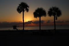 Sunrise at Fort Lauderdale Beach, Florida (Symbiosis) Tags: sunrise fortlauderdaleflorida lifeguardshack sunasaball redsky redskies lifeguardshackandsunrise