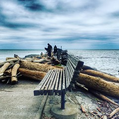 Happy Bench Monday (frptlady....) Tags: hbm benches websterpark lakeontario usa floods2017 iphone6