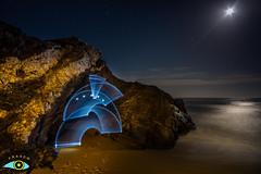 CALBLANQUE (Fran Ramos.) Tags: light painting naturaleza nocturnas noche luna playa cartagena calblanque frascoramos luces