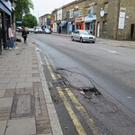 Pothole outside 1 White Hart Lane N17 thumbnail
