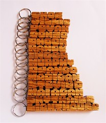 Zebrano (Zebrawood) Name Keychains (DustyNewt Scott) Tags: wood wooden woodworking personal personalized name keychain handmade custom madetoorder fob keyfob letters dustynewt zebrano zebrawood croz lighthouse skytrails django crook pevar willis maiagan stevied gonzo rance murphy madigan inger