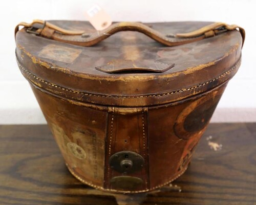 Leather Hat Box ($112.00)
