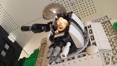 Jabba the Hutt's TIE Fighter - Turret open (Evilkirk) Tags: starwars lego jabba hutt tie fighter moc