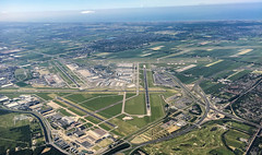 Schiphol Airport (Andy.Gocher) Tags: andygocher europe amsterdam schiphol schipol airport runway aerial aeroplaneseat aeroplanewindow windowseat flying iphone 6s