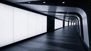 Kings Cross LED Tunnel cyan