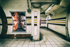 Bowie / Legacy (John Willoughby) Tags: london england unitedkingdom tube underground station davidbowie flyer poster interior bakerlooline david bowie legacy