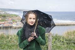 IMG_0013 - Holly (David-Hall) Tags: stampunk goth holly girl woman whitby green 2017 parasol