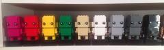 Brickheadz! (WhiteBrix) Tags: lego brickheadz monochrome magenta red yellow green tan white light bluish grey dark black