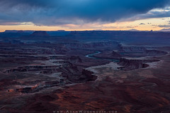 Moody Blues at Canyonlands (Adam Woodworth) Tags: canyonlandsnationalpark evening greenriver greenriveroverlook sunset utah scenic sky outdoors desert