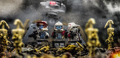 Arc Trooper Assault! (Lego_LUTs) Tags: green blue yellow storm trooper star wars war lego outdoors clone troopers first order blasters afol minifigs minifigures bricks blocks canon toy toys force legos t3i republic people photoadd atst death rogue one dirt practical effects orange arc
