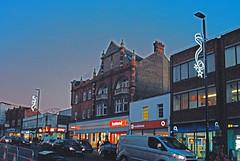 Eltham High Street Evening (Matthew Huntbach) Tags: eltham christmaslights se9 elthamhighstreet evening rolleicn200