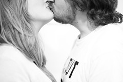 Day 54, Year 10. (evilibby) Tags: 365 36510 365days 365days10 libby jack kiss kissing blackandwhite blackwhite bw