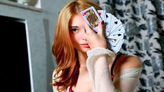 Girl Playing Poker (Johnny Danny) Tags: girl playing poker beautiful beauty bella bonita blonde greeneyes hermosa hot highdefinition hdr blondy cute chica pretty