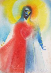 Heart of Divine Mercy. 2017 by Stephen B. Whatley (Stephen B. Whatley) Tags: drawing art divinemercy jesus christ divinemercysunday easter expressionism peace mercy love hope healing sacredheartofjesus heart heartofjesus pasteldrawing contemporaryart modernart prayer fineart abstract blood water jesusitrustinyou catholic christian stephenbwhatley stjamesschurchspanishplace london uk artiststephenbwhatley artiststephenwhatley stephenwhatley whatley light tears abigfave blueribbonwinner colourartaward