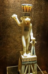 Alabaster unguent jar with lion found in the tomb of King Tutankhamun Egypt New Kingdom 18th Dynasty 1332-1323 BCE (mharrsch) Tags: alabaster sculpture statue lion bes deity god gravegoods funeraryart tutankhamun pharaoh king ruler egypt newkingdom 18thdynasty 14thcenturybce mharrsch newyorkcity premierexhibits discoveryofkingtut exhibit