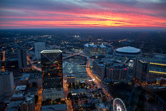 Atlanta Sunset (Jon Ariel) Tags: atlanta georgia ga sunset skyline city metro light lights cnn