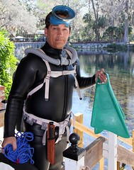 vintage 212 (Vintage Scuba) Tags: double hose scuba diver dive us voit regulator wetsuit smooth skin rubber beavertail jacket pants tank mask fins harness weight belt