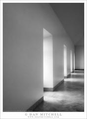 Windows And Hallway (G Dan Mitchell) Tags: thelouvre museum architecture hall hallway windows light shadow pattern blackandwhite monochrome paris france europe travel
