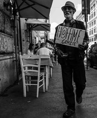 Stay'n hungry (Giobbanni79) Tags: fame hunger povero poor anziano old bw roma rome vintage society società povertà