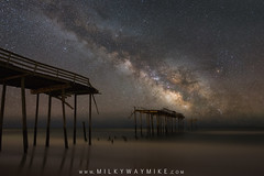 Broken Pier (Mike Ver Sprill - Milky Way Mike) Tags: frisco pier broken damages storm cape hatteras north carolina seascape beach ocean pilings milky way galaxy mike ver sprill michael versprill stars star long exposure ioptron tracker astrophotography astronommy astronomy night sky nightscape nightscaper