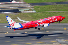 VH-VOL VA B738 16R YSSY-9053 (A u s s i e P o m m) Tags: virgin virginaustralia va velocity syd yssy sydneyairport boeing b738 a2a air2air