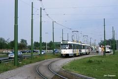 Antwerpen (Jan Dreesen) Tags: openbaar vervoer transport public transit tram tramway streetcar delijn antwerpen anvers antwerp pcc 7144 2 terminus eindpunt linkeroever