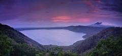 Laguna de Apoyo (Travicted Photography) Tags: travel centralamerica centroamerica nicaragua lagunadeapoyo catarina miradordecatarina panorama sunset lagoon laguna mombacho volcanmombacho