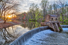 Speedwell Lake Evening HDR (Eric Boehm) Tags: dam hdr morristown speedwell speedwelllake sunset twilight waterfalls