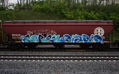 Kerse/Rapid (quiet-silence) Tags: graffiti graff freight fr8 train railroad railcar art kerse esrek rapid ta cba amfm hopper bnsf bnsf450488