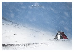 Iceland - a remote hut high in the mountains. (Nomad Soldier) Tags: winter 4x4 nikondf mountains quiet remote windy wind blizzard gale snow iceland