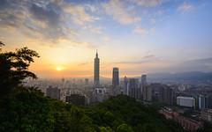 台北象山日落 (TungShing) Tags: 台灣 台北 taipei101 sunset taiwan taipei 象山