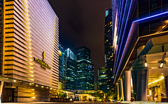 Collyer Quay Side Walk (Justin T'annix Photography) Tags: night cityscape collyer quay marina bay singapore building hotels fullertonbayhotel fullerton sony