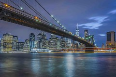 NEW YORK - East River / Brooklyn Bridge (Klaus Mokosch) Tags: eastriver brooklynbridge newyork america amerika bridge river skyline building architecture architektur bluehour night urban city outdoor klausmokosch hdr