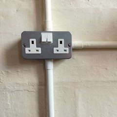 Office life (Hilary Causer) Tags: officelife interior detail socket electricity switch mundane bland noticing