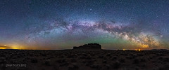 Fort Rock Milky Way (TierraCosmos) Tags: panorama fortrock oregon volcanic milkyway nightscape astrophotography stars