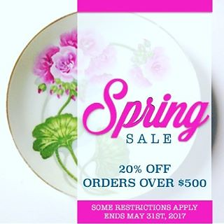 We are thrilled to announce our Spring Booking Special! During the month of May receive 20% off all rentals that exceed $500. So place those orders and get access to our meticulously edited collection of heirloom china, silver, crystal, linens, furniture,