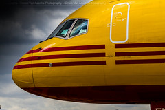 EAT Leipzig B757 D-ALEN @Brussels (Simon Van Assche Photography) Tags: dalen eat dhl boeing 757 b757f b757 yellow red aviation airport avion avgeek avporn aircraft airlines exterieur exposition ebbr europe fret freight freighter cargo close colours spotters spotter spotting spott skies plane picture piste photo pic