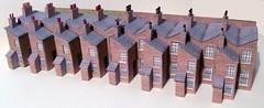 Small terraced houses (kingsway john) Tags: kingsway models card kits 176 scale oogauge georgian houses terraces terraced oo gauge terg small terrace house