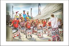 BATALA DRUMMERS (DEREK HYAMSON . OVER 5 AND A HALF MILLION) Tags: hdr candids batala drummers pierhead liverpool