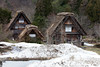 Gessho style houses (Mikey Down Under) Tags: ogimachi village japan gifu prefecture shirakawago historic world heritage site japanese thatch building farm houses home april spring roof honshu snow gessho style