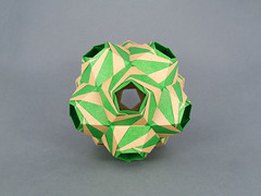 Twirl (masha_losk) Tags: kusudama кусудама origamiwork origamiart foliage origami paper paperfolding modularorigami unitorigami модульноеоригами оригами бумага folded symmetry design handmade art