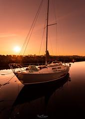 Safe Harbour (Kurt Evensen) Tags: norway light rogaland sea sunset quiet sailboat water docks sky tranquillity silence reflection calm shore no