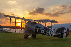 Sunset Snipe (Kev Gregory (General)) Tags: timeline events sunset night shoot stow maries great war aerodrome maldon essex world one wwi raf rfc royal flying corp air force sqn squadron biplane aircraft aeroplane historic kev gregory canon 7d fighter bomber english german allied axis sopwith snipe zksni colours no 70 f2367 corps