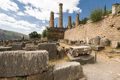 "The Sacred Way - XIV – Apollo's Temple (egisto.sani) Tags: delfi sito ""late classical period"" tardo classico periodo"" xenodoros agathon ""apollo's temple"" ""temple apollo"" ""tempio di phocis focide delphi ""archaeological museum"" ""museo archeologico"""