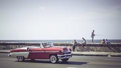 Havanna (gies777) Tags: kuba cuba havanna havana habana lahabana malecon auto oldtimer uscar cabrio cabriolet convertible taxi olympus omd em5 mft karibik caribbean reise travel vacation angler fishing
