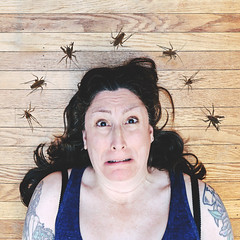 Nightmare / 105.365 (sadandbeautiful (Sarah)) Tags: me woman female self selfportrait 365daysx8 365days day105 camelcrickets cavecrickets spidercrickets