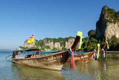 Railay Beach, Thailand (GlobeTrotter 2000) Tags: asia beach boat holidays koh kohphiphi long paradise phi railay railey sea tail thailand tourism travel tropical vacation