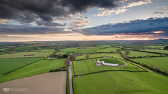 Newgrange under dark clouds (mythicalireland) Tags: newgrange sunset clouds evening sky april drone dji 3 advanced aerial landscape boyne valley meath ireland