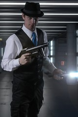 May the Fourth Be With You (The Infamous Blue Tie) Tags: star wars noir film may 4th fourth force jedi lightsaber laser gun blaster awesome science fiction space